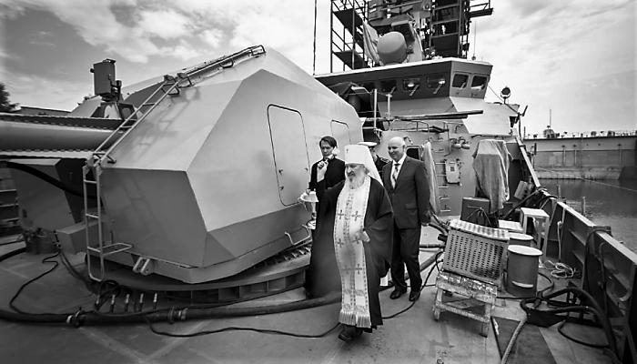 Митрополит Феофан (Ашурков) освятил ракетный корабль